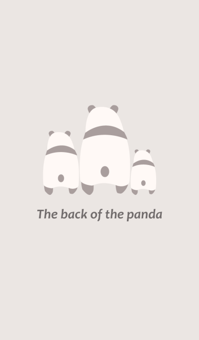 The back of the panda -Beige-