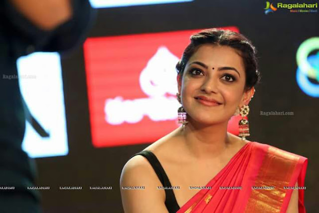 IMG 20170807 WA0288 - Kajal Agarwal Sexy Photos In Hot Red Saree For Nene Raju Nene Mantri Movie Promotion