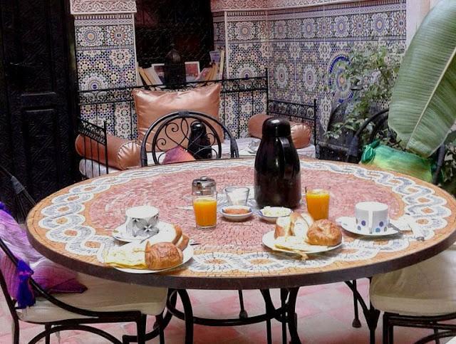 Desayuno Riad Amskal Marrakech