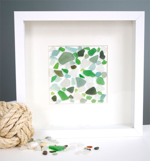 sea glass wall art