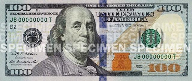 Nota de 100 dólares nova: