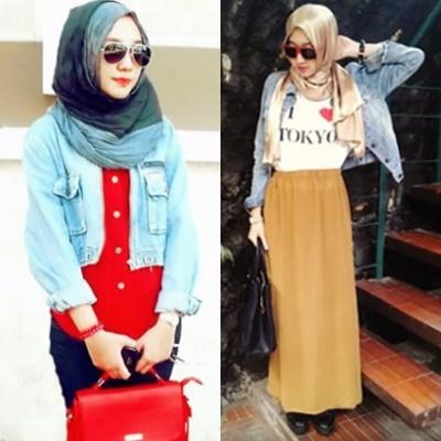 14 Style Hijab Dengan Jaket Parka Wanita Dan Jaket Korea Model
