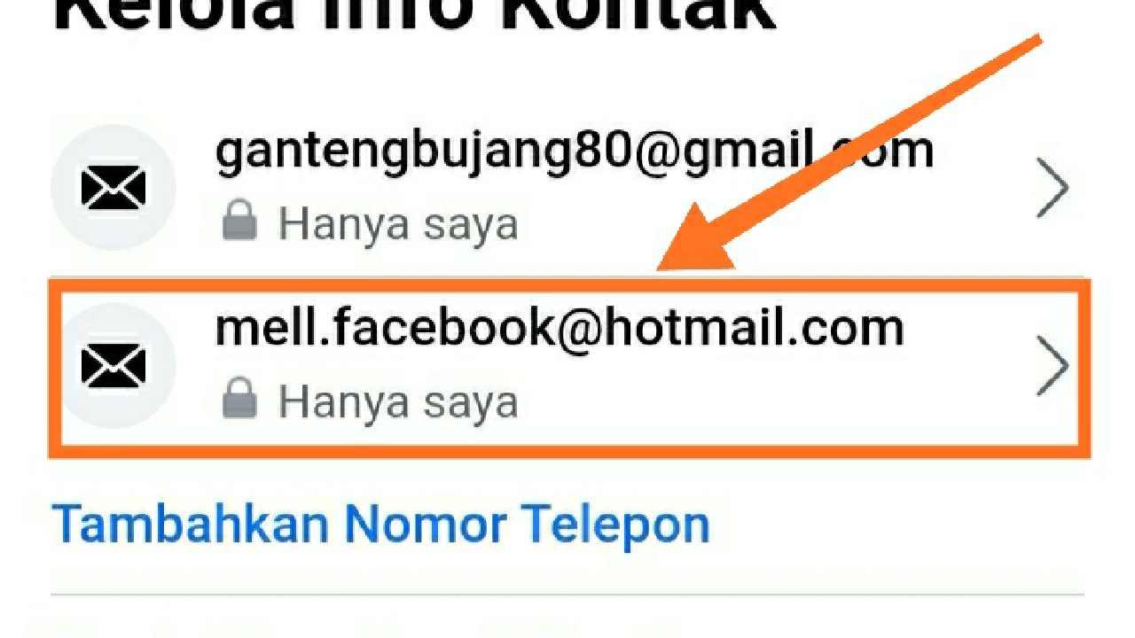 Cara menghapus email blackhole di Facebook