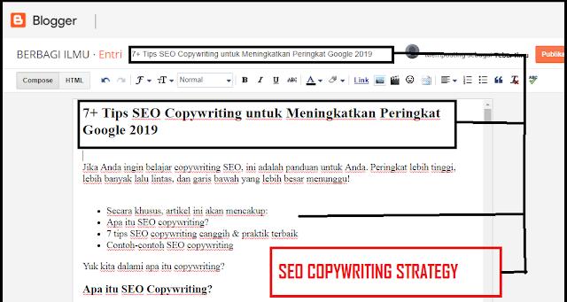 7+ Tips SEO Copywriting untuk Meningkatkan Peringkat Google 2019