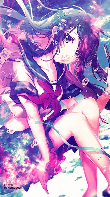 Schoolgirl - Anime Girl Wallpaper