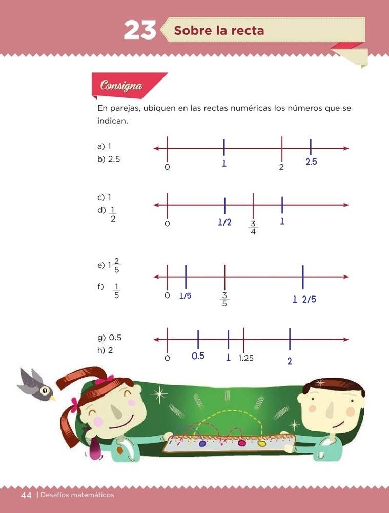 Libro de textoDesafíos MatemáticosSobre la rectaSexto gradoContestado