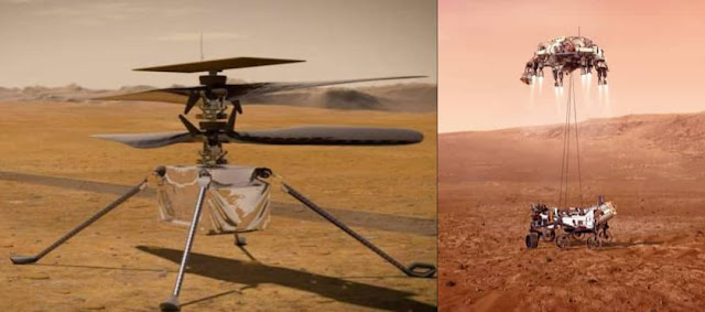 NASA Perseverance Rover Landing On Mars On Feb 18, Carrying Ingenuity Helicopter