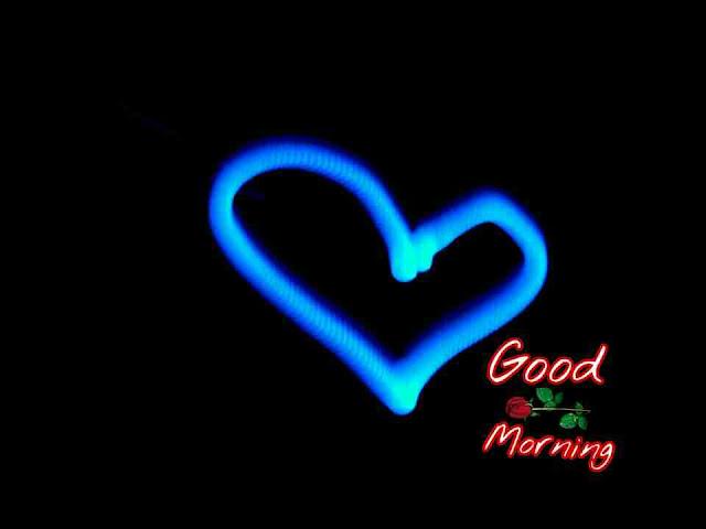 Beautiful good morning photo image with shining heart