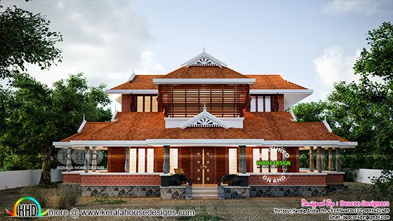Traditional Kerala house 2971 sq-ft