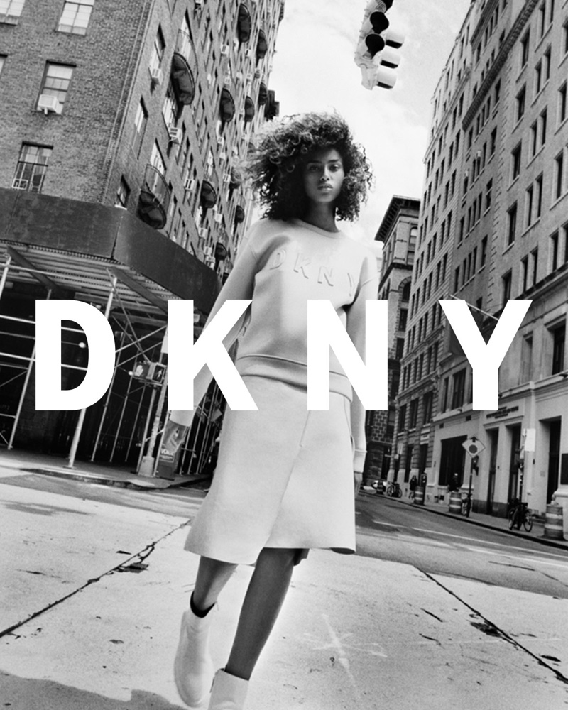DKNY Pre-Spring 2017 Campaign featuring Imaan Hammam