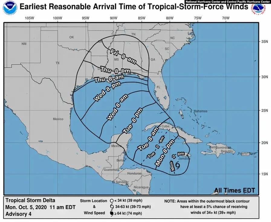 Semenanjung Yukatan di Meksiko di Terjang Badai Delta