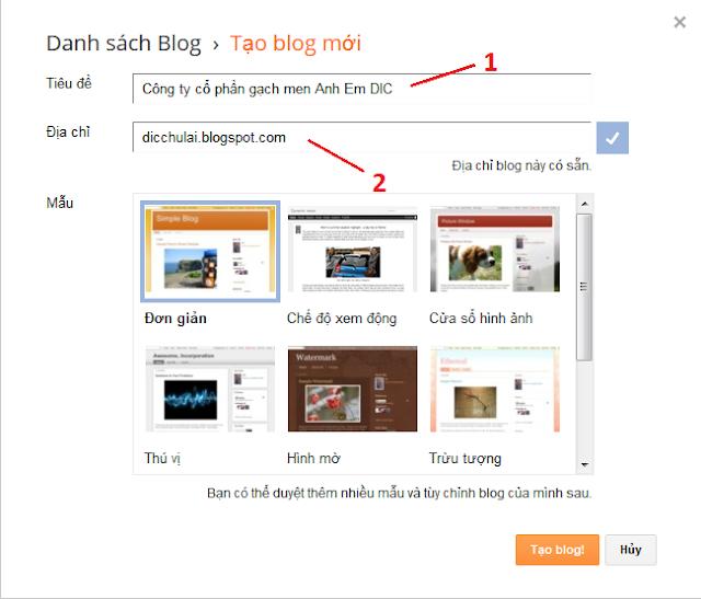 tạo blog hướng dẫn đăng kí blog miễn phí