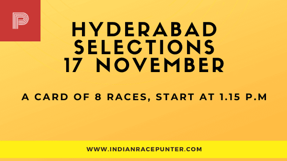 Hyderabad Race Selections 17 November