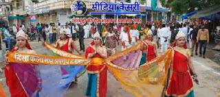 चातुर्मास में जैन मुनि पुंगव सुधासागर महाराज का chandkheri में mangal pravesh