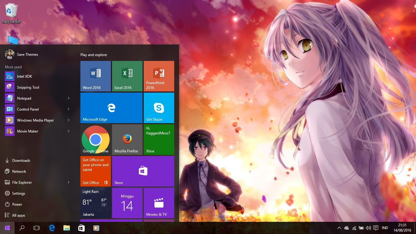 Angel Beats Op angel beats theme for windows 7/8/8.1 and 10 - save themes