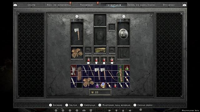 Inventario Diablo II Resurrected