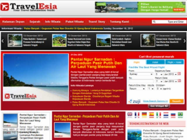 Website Travel Indonesia