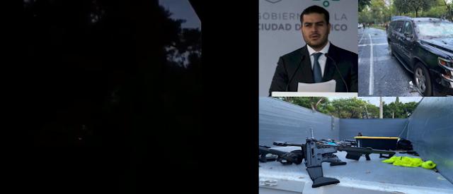 VIDEO.- Así retumbaban cientos de balazos  del Barret .50 que usaron en atentado contra Omar García Harfuch, jefe de la Policía de la CDMX trasciende que El CJNG lo había amenazado
