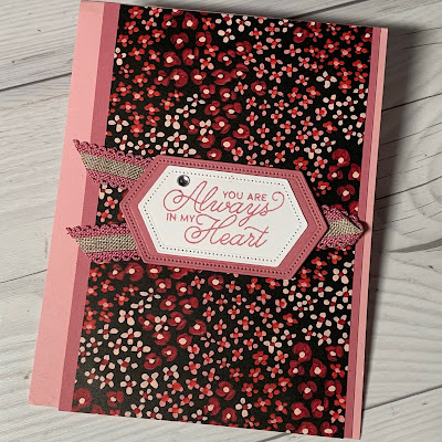 Floral handmade greeting card using Sale-a-Bration Flower & Field Designer Series Paper