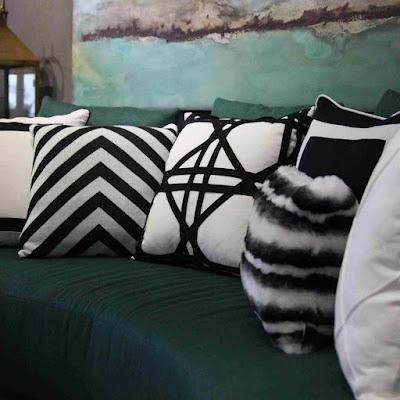 decoração-almofadas-preto-e-branco