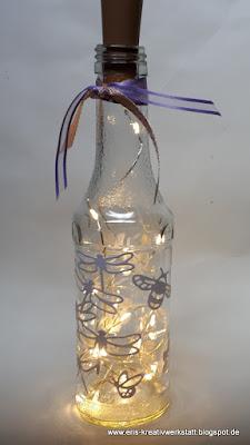 Anleitung / Tutorial für einen Flaschenhalter mit Leuchtflasche Stampin' Up! www.eris-kreativwerkstatt.blogspot.de