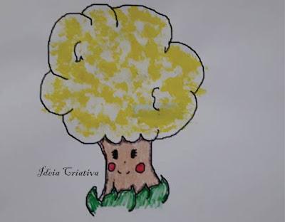 Pintura com Algodão Dia da Árvore