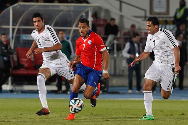 Chile y Egipto en partido amistoso, 30 de mayo de 2014