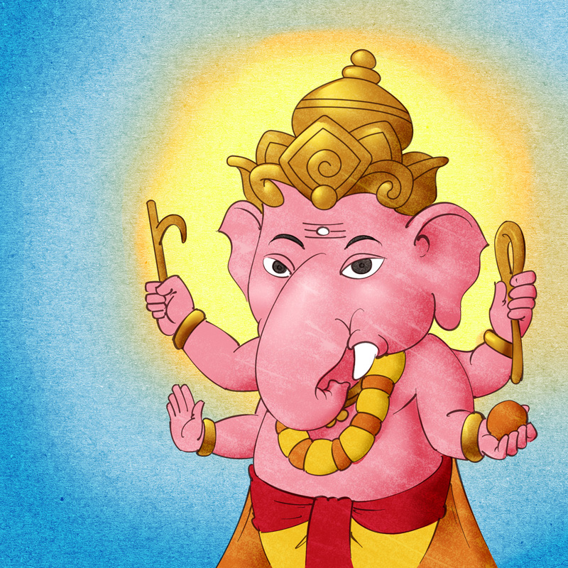 Cute Lord Ganesha illustration