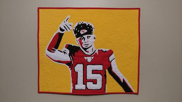 Chiefs quarterback Patrick Mahomes mini quilt