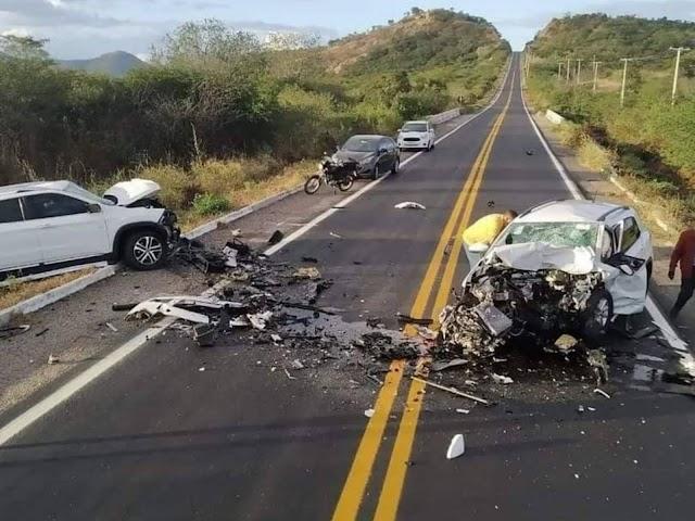 Colisão frontal entre carros deixa um morto e um ferido na BR-226 no Oeste potiguar