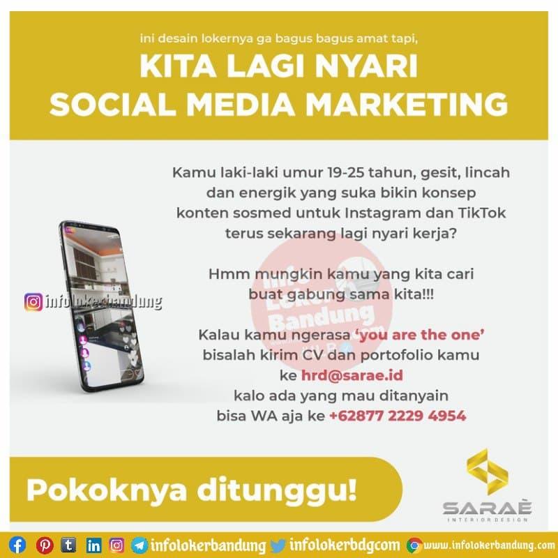 Lowongan Kerja Social Media Marketing Sarae.id Bandung Mei 2021
