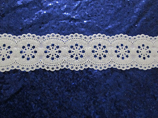 Polymer Clay Lace on Sequin Background