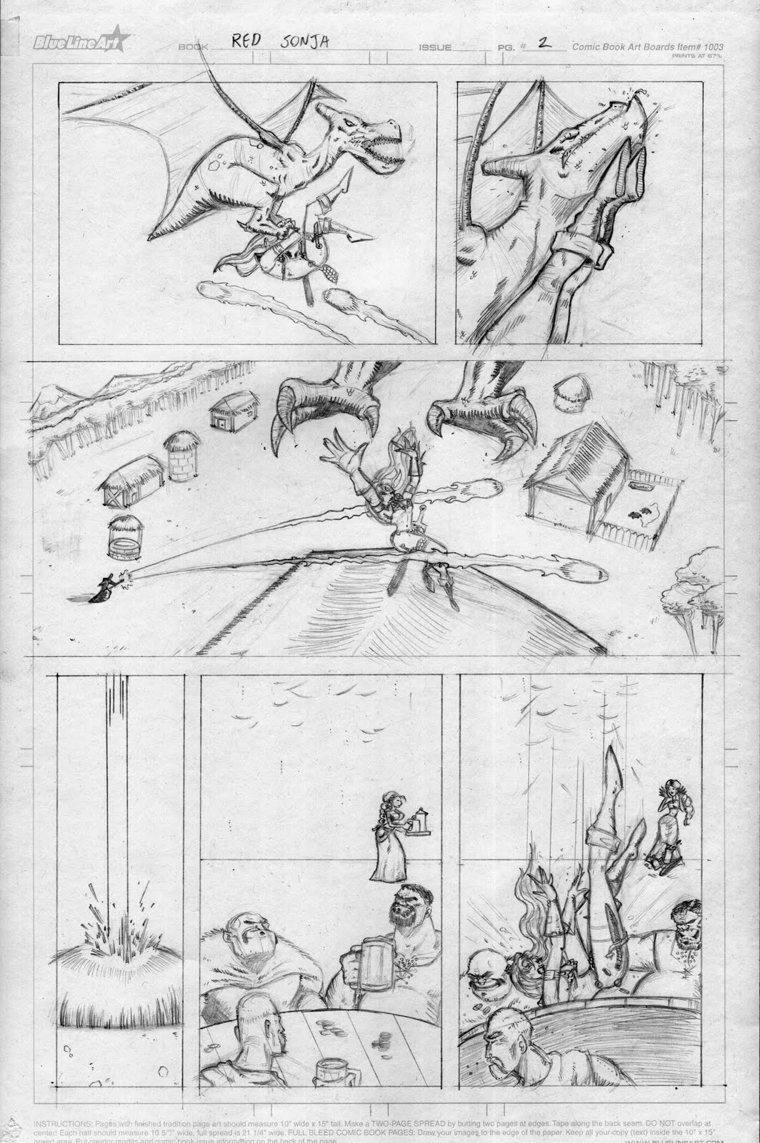 The Art Of Jared Red Sonja Sample Pages