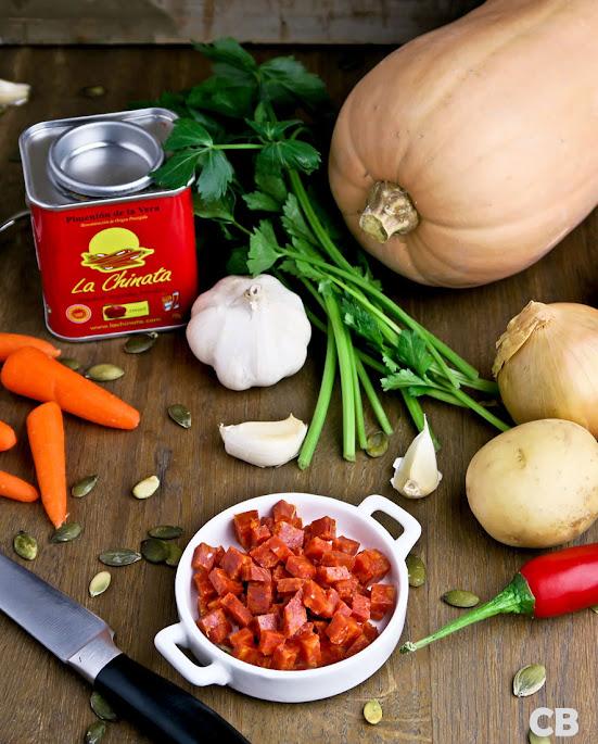 Ingrediënten voor pompoensoep