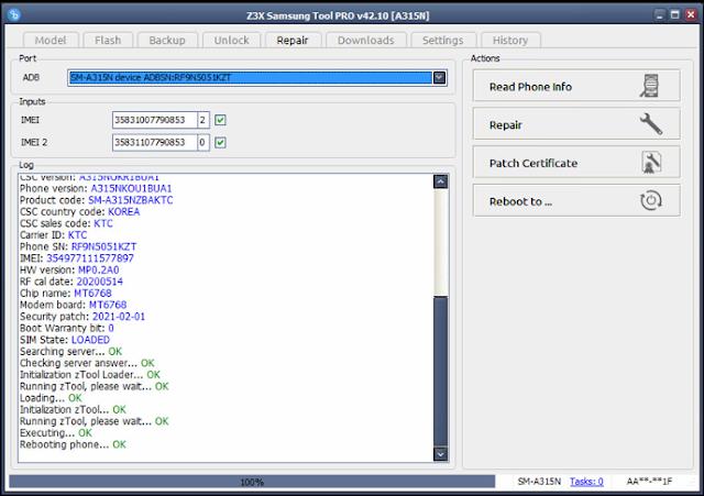 BERHASIL..REPAIR IMEI SAMSUNG A31 A315NA315G TANPA ROOT