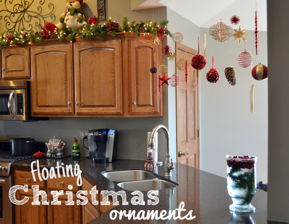 floating Christmas ornaments
