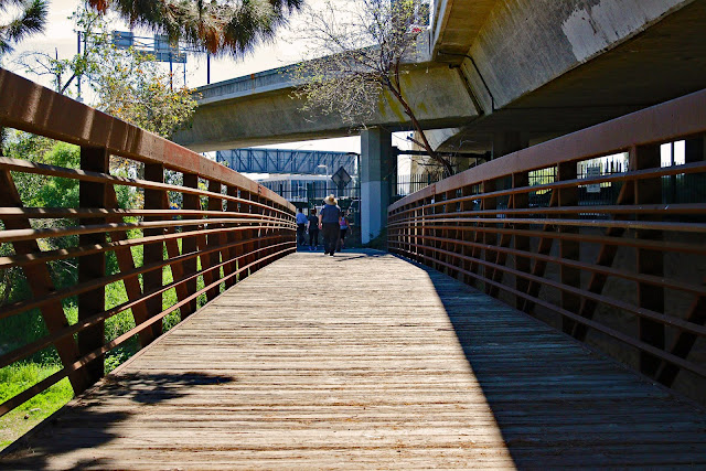 Bridge at Santiago Creek Bike Trail in Santa Ana Orange County California