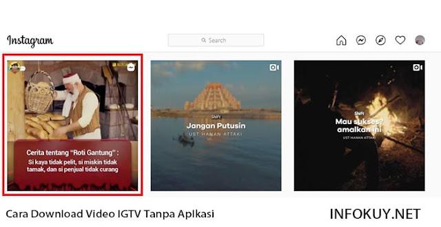 Cara Copy Link IGTV di PC #1