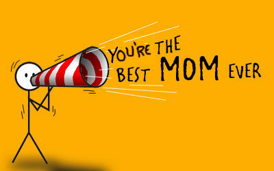 Best Mom Ever Card Mothers Day Stock Vector 413978368 ... |You Are The Best Momma Ever