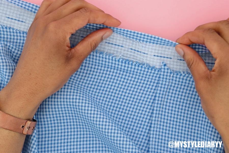 DIY wrap skirt with waistband