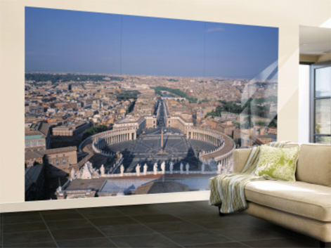 St. Peter's Piazza, Vatican, Rome, Italy