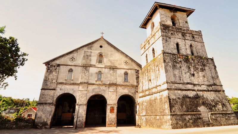 The newly-restored Baclayon Church in Bohol