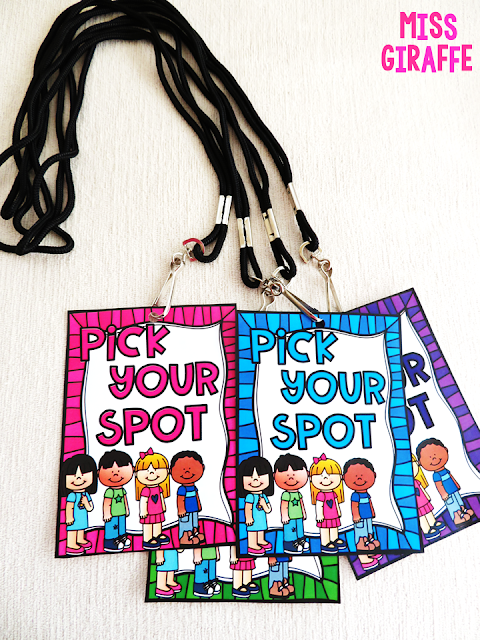 Pick Your Spot passes are AWESOME for line behavior! Classroom management tricks for how to have a quiet line in this post!