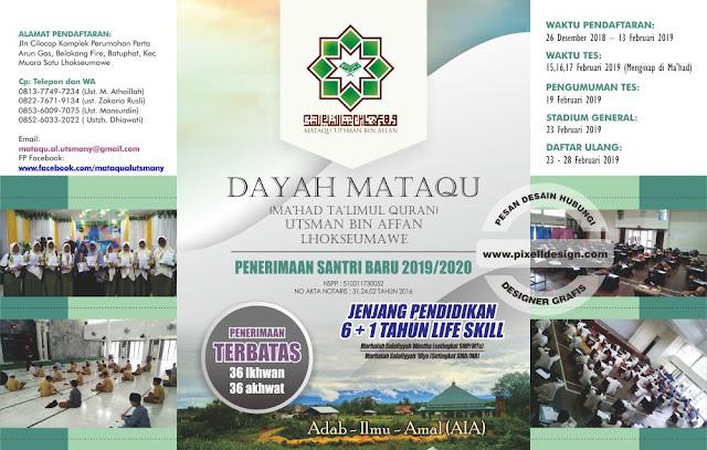 Iklan Brosur Pendidikan Pendaftaran Pesantren