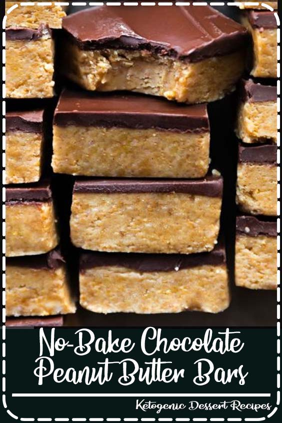 bake chocolate peanut butter bars are thick No-Bake Chocolate Peanut Butter Bars