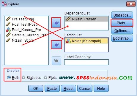 Cara Uji Independent Sample t Test untuk N-Gain Score dengan SPSS