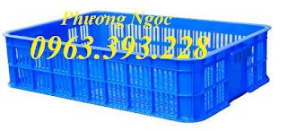 Sọt nhựa trưng bày hàng hóa, sóng nhựa đựng trái cây rau củ quả siêu thị Cao15