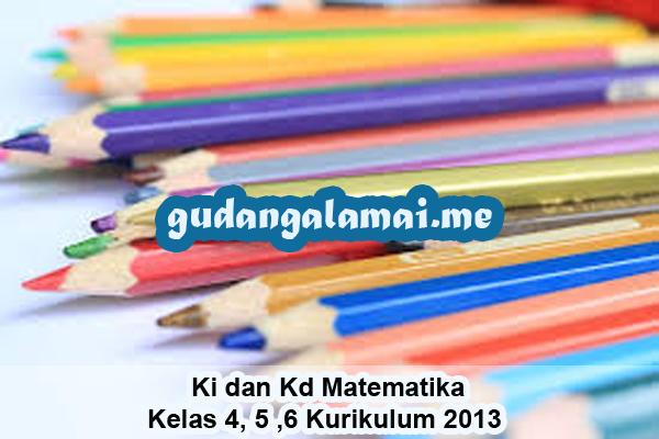 Ki dan Kd Matematika Kelas 4, 5 ,6 Kurikulum 2013