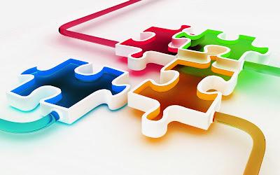Colourful Block 3D Wallpaper