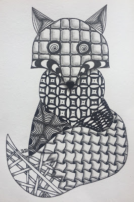 Zentangle Inspired Art Fox